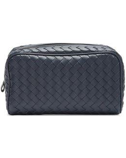 Intrecciato Leather Washbag