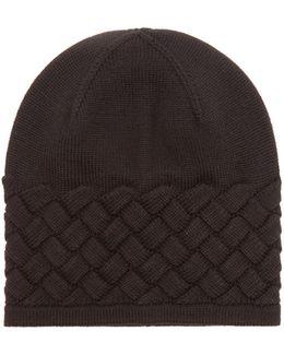 Intrecciato-knit Wool Hat