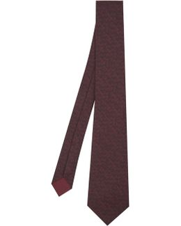 Intrecciato-print Silk Tie