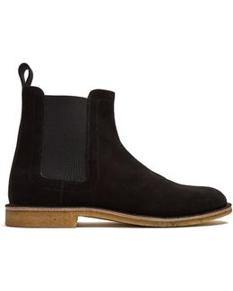 Panelled Suede Chelsea Boots