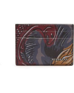 Sandon Beasts-print Leather Cardholder