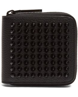 Panettone Spike-embellished Square Leather Wallet