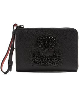 Tinos Crest-embellished Leather Wallet