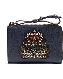 Tinos Crest-embellished Leather Wallet