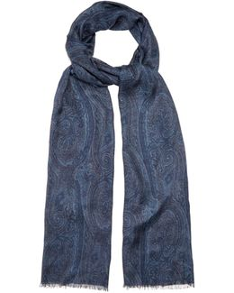 Paisley-print Modal And Cashmere-blend Scarf