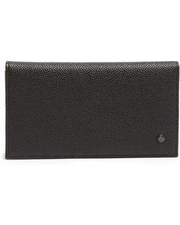 Bi-fold Grained-leather Wallet
