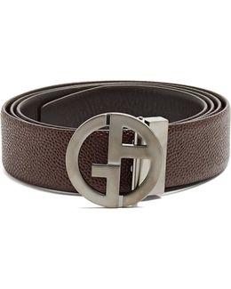 Ga-buckle Leather Belt