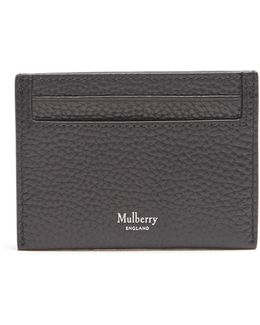 Grained-leather Card Holder