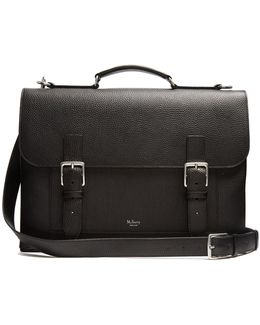 Chiltern Grained-leather Briefcase