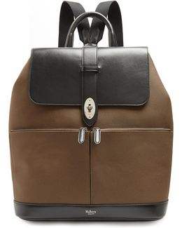 Reston Nylon And Leather Backpack