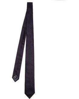 Geometric-jacquard Silk Tie
