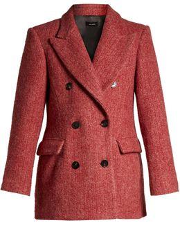 Eley Double-breasted Herringbone Coat