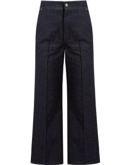 Parsley Kick-flare Cropped Jeans
