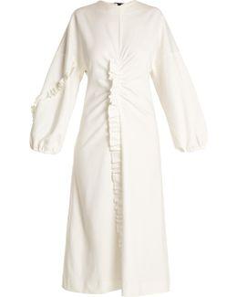 Bond Ruffled Jersey Midi Dress