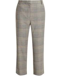 Taylor Checked Cropped Trousers