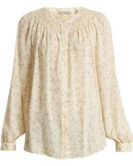 Silk Floral-print Blouse