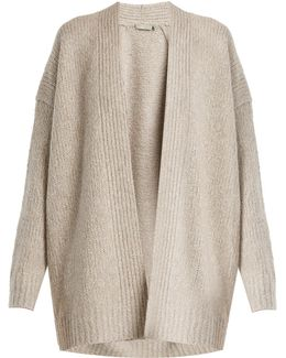Shawl-neck Wool And Cashmere-blend Cardigan