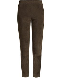 Suede Cropped Trousers