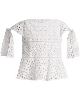 Amora Broderie-anglaise Cotton Top