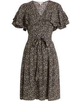 Sweet Briar Floral-print Silk Dress