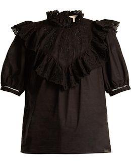 Nouveau Ruffled Cotton Top