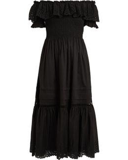 Nouveau Off-the-shoulder Cotton Dress