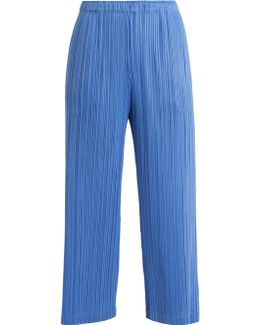 Classic Wide-leg Pleated Trousers
