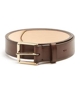 Slim Burnished-leather Belt