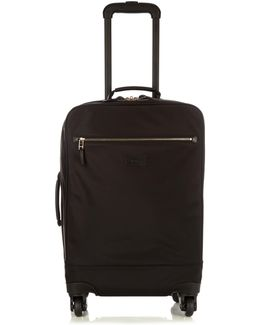 Web-trimmed Soft Trolley Suitcase