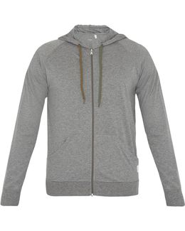 Zip-through Hooded Cotton Sweatshirt