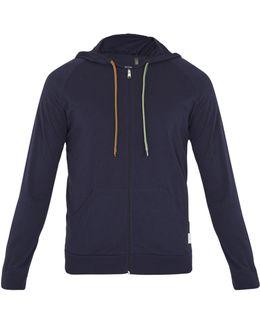 Zip-through Cotton Hooded Sweatshirt