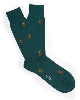 Monkey-jacquard Socks