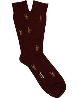 Monkey-jacquard Socks