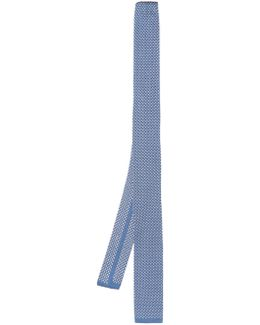 Embroidered Silk-jersey Tie