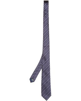Striped Silk-jacquard Tie