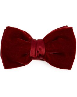 Velvet And Satin Bow Tie