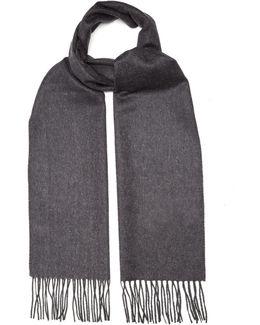 Bi-colour Fringed Cashmere Scarf