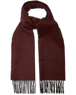 Bi-colour Fringed Cashmere Scarf