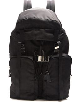 Large Top-flap Nylon Backpack