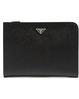 Saffiano-leather Document Holder