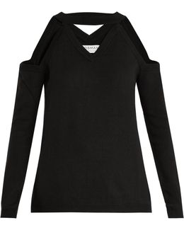 Emmeline Cut-out Shoulder Wool Sweater