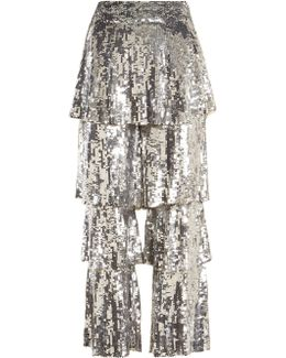 Felix Sequin-embellished Cropped Trousers