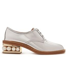 Casati Pearl-heeled Patent-leather Derby Shoes
