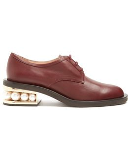 Casati Pearl-heeled Leather Derby Shoes