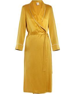 Bianca Sandwashed-silk Robe