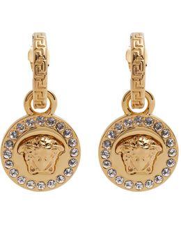 Crystal-embellished Medusa Drop Earrings