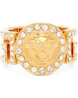 Medusa Crystal-embellished Ring