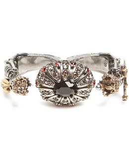 Embellished-skeleton Double Ring