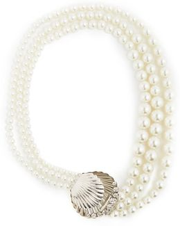 Faux-pearl And Crystal Necklace