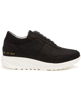 Track Low-top Nubuck And Mesh Trainers